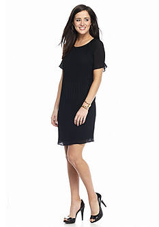 MICHAEL Michael Kors Short Sleeve Pleated Dress