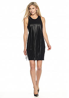 MICHAEL Michael Kors Long Fringe Tank Dress