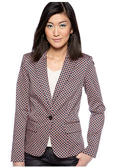 MICHAEL Michael Kors Printed One Button Blazer