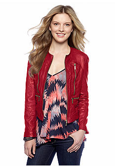 MICHAEL Michael Kors Soft Leather Jacket