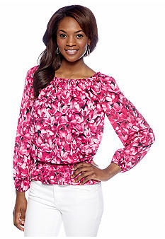 MICHAEL Michael Kors Wildflower Printed Peasant Top