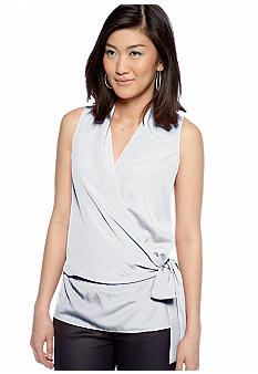 MICHAEL Michael Kors Sleeveless Crossover Tie Top