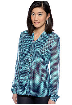 MICHAEL Michael Kors Abstract Pintuck Shirt