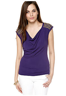 MICHAEL Michael Kors Cowl Neck Stud Top