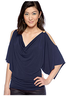 MICHAEL Michael Kors Cold Shoulder Chain Top