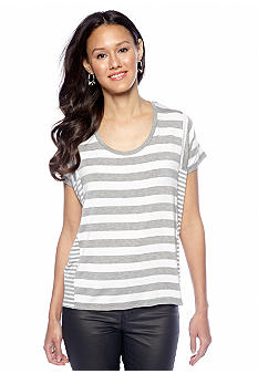 MICHAEL Michael Kors Striped Panel Tee