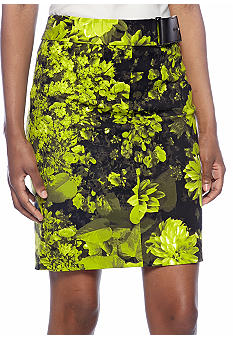 MICHAEL Michael Kors Garden Print Pencil Skirt