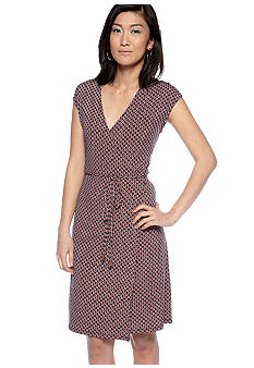 MICHAEL Michael Kors Sleeveless Printed Wrap Dress