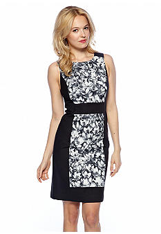 MICHAEL Michael Kors Color Block Wildflower Print Sheath Dress