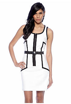 MICHAEL Michael Kors Zipper Dress with Buckle Belt
