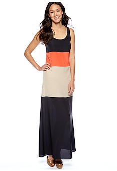MICHAEL Michael Kors Color Block Tank Maxi Dress