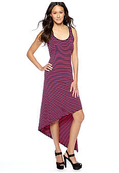 MICHAEL Michael Kors Stripe Asymmetrical Hemline Maxi Dress