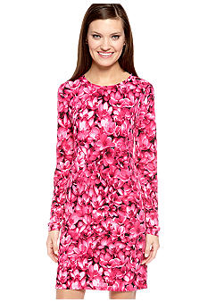 MICHAEL Michael Kors Long Sleeve Floral Print Dress
