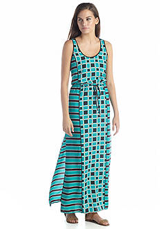 MICHAEL Michael Kors Soho Square Print Maxi Dress