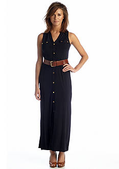 MICHAEL Michael Kors Sleeveless Maxi Shirt Dress