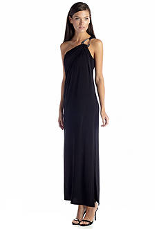 MICHAEL Michael Kors One-Shoulder Maxi Dress