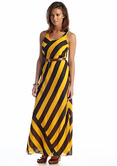 MICHAEL Michael Kors Stripe Racerback Maxi Dress