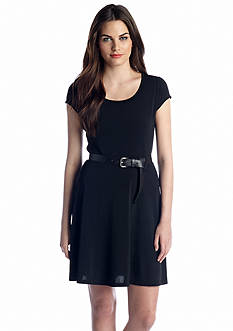MICHAEL Michael Kors Cap Sleeve Flare Dress