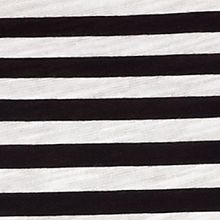 Women's T-shirts: Black MICHAEL Michael Kors Striped Tie Hem Top