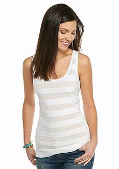MICHAEL Michael Kors Sheer Stripe Sweater Tank