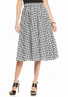 MICHAEL Michael Kors Gingham A-Line Skirt