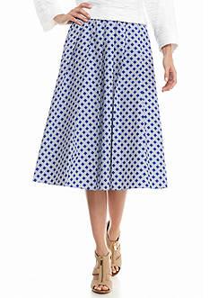 MICHAEL Michael Kors Printed A-Line Skirt