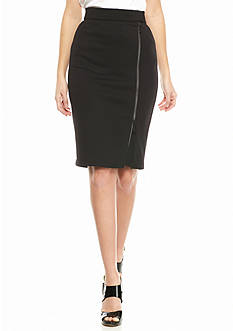 MICHAEL Michael Kors Zip Front Pencil Skirt