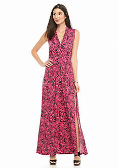 MICHAEL Michael Kors Leaf Print Maxi Dress