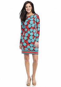 MICHAEL Michael Kors McKenna Boatneck Print Dress