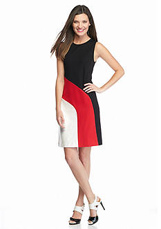 MICHAEL Michael Kors Sleeveless Contrast Band Dress
