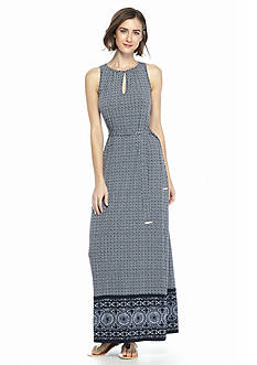 MICHAEL Michael Kors Edo Print Border Maxi Dress