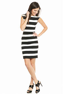 MICHAEL Michael Kors Scoop Back Striped Dress