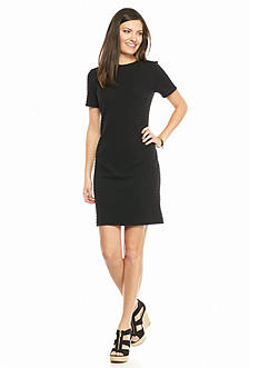 MICHAEL Michael Kors Grid Textured Knit Dress