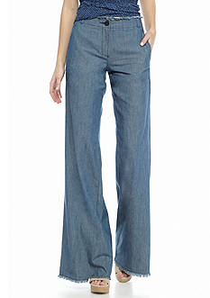 MICHAEL Michael Kors Raw Edge Wide Leg Jeans