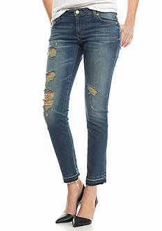 MICHAEL Michael Kors Destructed Izzy Crop Jeans