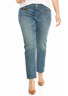 MICHAEL Michael Kors Plus Size Zip Pocket Skinny Jeans