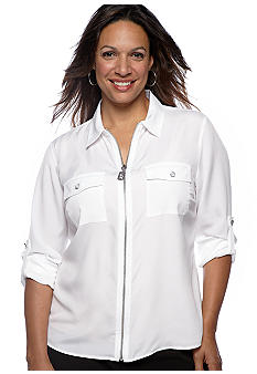 MICHAEL Michael Kors Plus Size Camp Shirt