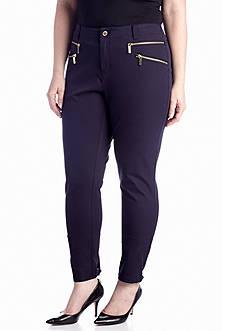 MICHAEL Michael Kors Plus Size Rocker Zip Skinny Pant