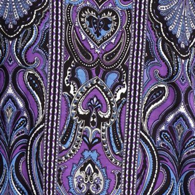 Michael Michael Kors: Aster Blue/Royal Purple MICHAEL Michael Kors Plus Size Paisley Print Elliptical Top