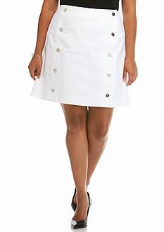 MICHAEL Michael Kors Plus Size Button Down Mini Skirt