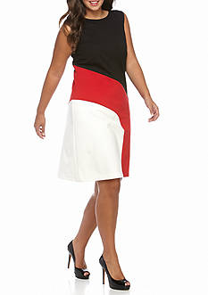 MICHAEL Michael Kors Plus Size Contrast Band Sleeveless Dress
