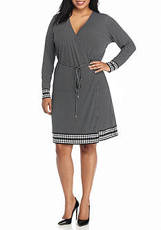 MICHAEL Michael Kors Plus Size Harget Wrap Dress