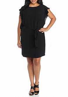 MICHAEL Michael Kors Plus Size Flounce Sleeved Dress