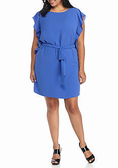 MICHAEL Michael Kors Plus Size Flounce Sleeved Dress