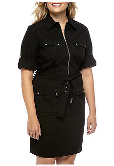 Michael Kors Plus Size Roll Sleeve Dress