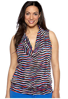 MICHAEL Michael Kors Plus Size Sleeveless Cowl Neck Blouse