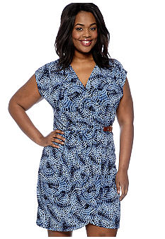 MICHAEL Michael Kors Plus Size Short Sleeve Wrap Dress