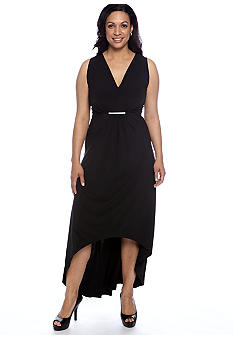 MICHAEL Michael Kors Plus Size Front Pleated Maxi Dress