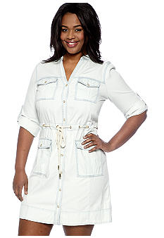 MICHAEL Michael Kors Plus Size Denim Drawstring Dress
