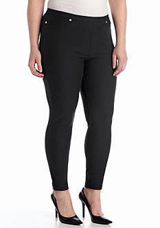 MICHAEL Michael Kors Plus Size Solid Pull On Legging